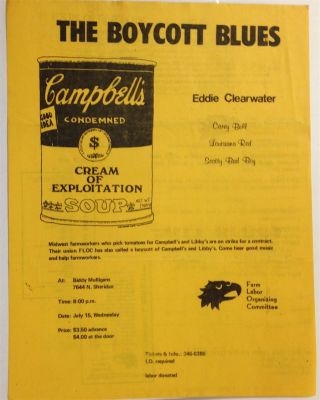 The Boycott Blues: Eddie Clearwater, Carey Bell, Louisiana Red, Scotty Bad Boy [handbill]. Farm...