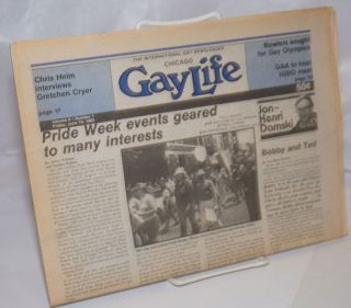 Chicago GayLife: the international gay newsleader; vol. 8, #1, Friday, June 18, 1982. Albert N....
