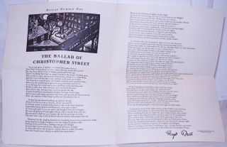 The ballad of Christopher Street. Floyd Dell
