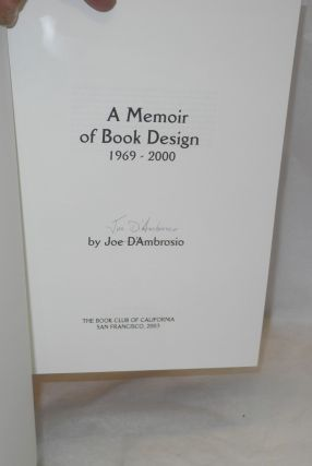 A memoir of book design 1969-2000