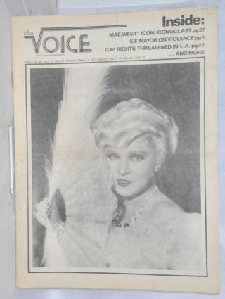 The Voice: more than a newspaper; vol. 2, #25, Dec. 5, 1980. Paul D. Hardman, Quentin Kopp Milton...