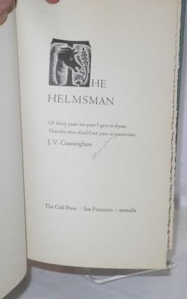 The helmsman: of thirty years I gave to rhyme, that this time should not pass: so pases time