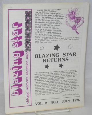 Blazing Star: vol. 2, #1, July 1976: Blazing Star returns