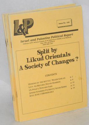 Israel and Palestine political report [31 issues]