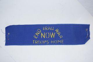 End Iraq War Now / Troops Home [armband