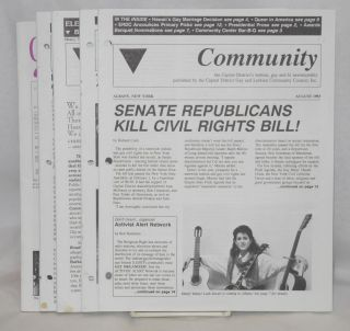 Community: newsletter of the Capital District Lesbian and Gay Community Center; 8 issue broken run May 1989 - April 1995
