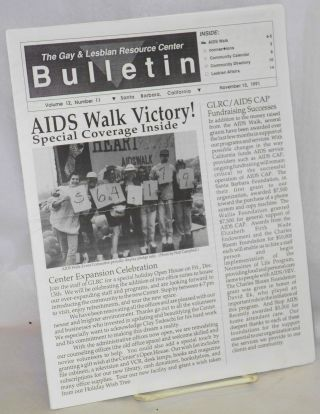 Gay & Lesbian Resource Center bulletin: vol. 12, #11, November 15, 1991 AIDS Walk victory