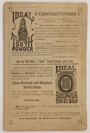 [Advertising card for Ideal Tooth Powder, with photographic portrait of Terence V. Powderly of the Knights of Labor]