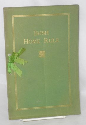 Irish Home Rule [cover title] Assembly and Senate Daily journals. Irish special. Assembly...
