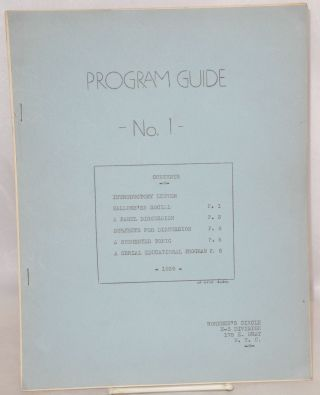 Program Guide no. 1. Workmen's Circle English-Speaking Division