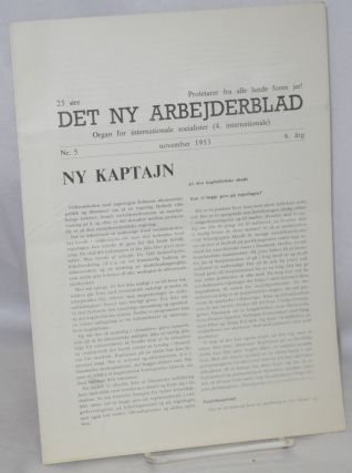 Det ny Arbejderblad: Organ for Internationale Socialister (4. Internationale). Nr. 5 (Nov. 1953