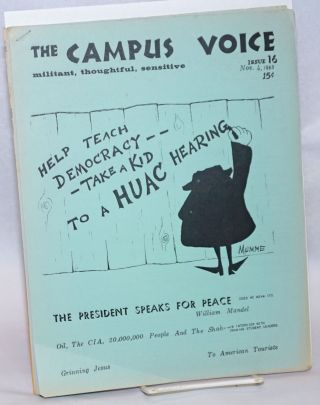 The Campus Voice [two issues: 16 and 19]. Richard Rubacher, Richard Epstein