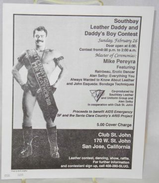 Southbay Leather Daddy and Daddy's Boy Contest [leaflet