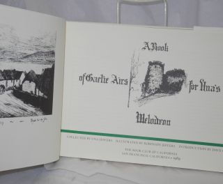 A book of Gaelic airs for Una's melodeon. Una Jeffers, Robinson Jeffers illustrations, comp.,...