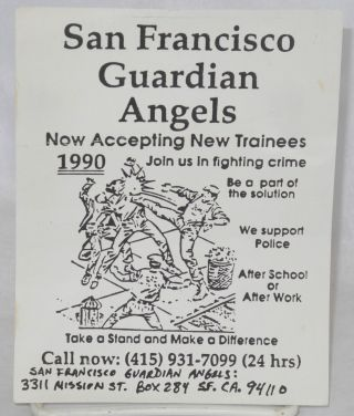 San Francisco Guardian Angels [leaflet] now accepting new trainees 1990; join us in fighting crime