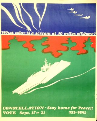 What color is a scream at 50 miles offshore? Constellation - Stay home for peace!! Vote Sept. 17-21 [poster]