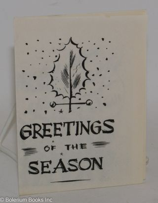 Greetings of the Season [Christmas card]. 3rd A. D. Communist Party, Manhattan.