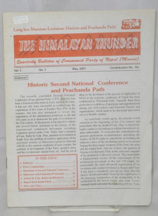 The Himalayan Thunder: Quarterly Bulletin of the Communist Party of Nepal (Maoist). Vol. 1, No. 1...
