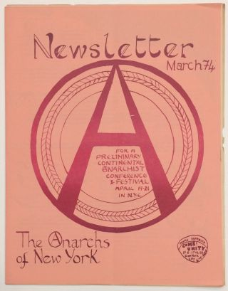 Newsletter. March 1974. Anarchs of New York.