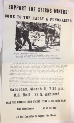 Support the Sterns Miners! Come to the rally and fundraiser [handbill