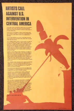 Artists call against U. S. intervention in Central America [poster]. Claes Oldenburg