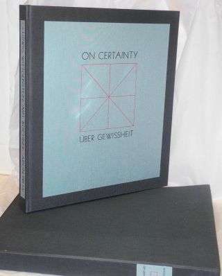 On Certainty, edited by G. E. M. Anscombe and G. H. Von Wright, the text in German, Uber...