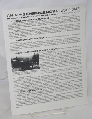 Chiapas Emergency News Update; Feb. 20, 1998. compilers Pueblo por La Paz