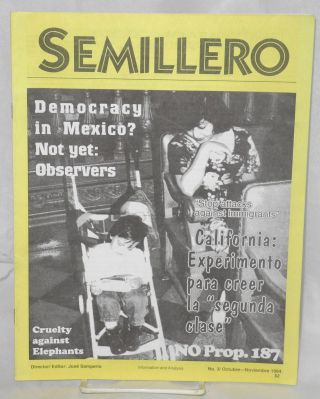 "Semillero: information and analysis; #3/Octubre-Noviembre 1994; 'Stop Attacks Against Immigrants""..."