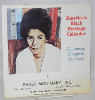 America's Black Heritage Calendar; a continuing strength in our society [1987 calendar]