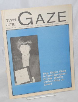 Twin Cities Gaze: the news bi-weekly for the Twin Cities Gay/Lesbian Community # 27, January 22, 1987