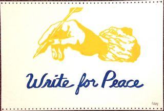 Write for peace [poster