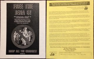 Two leaflets related to the case of the Jena 6]. Repression October 22 Coalition to Stop Police...