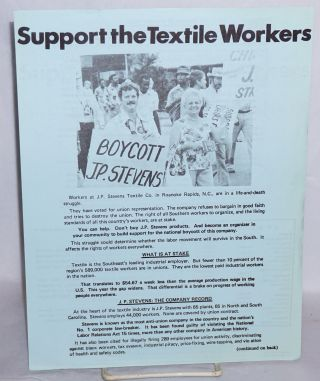 Support the textile workers. SOC, Southern Organizing Committee for Economic, Social Justice.