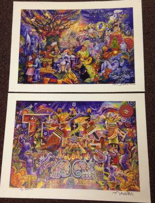 Mayan Transdance Rios [with] Maya Garden [two signed posters]. Michael V. Rios
