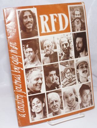 RFD: a country journal for gay men; #13, Fall, 1977, recruiting feminist drakes. Allan Berube,...