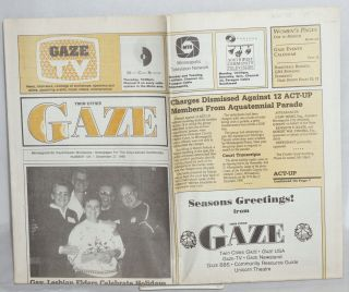 Twin Cities Gaze: the news bi-weekly for the Twin Cities Gay/Lesbian Community #129, December 27,...