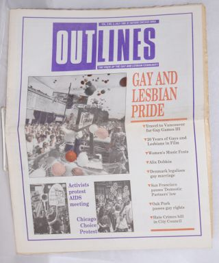 OUTlines: the voice of the gay and lesbian community; [originally Chicago Outlines] vol. 3, #2,...