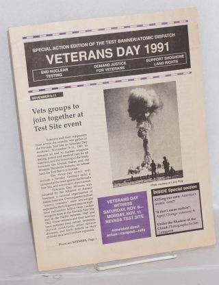 Special action edition of the Test Banner / Atomic Dispatch: Veterans Day 1991