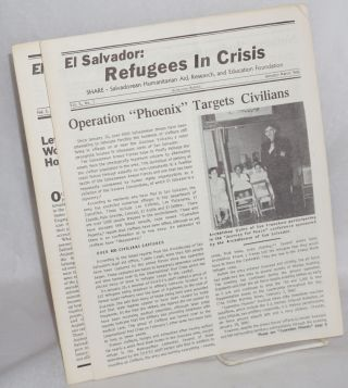 El Salvador: refugees in crisis [four issues]