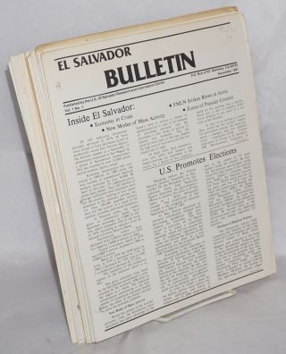 El Salvador bulletin. Vol. 1, no. 1 (Nov. 1981)-v. 3, no. 2 (Dec. 1983) [complete run