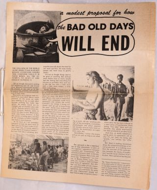 A modest proposal for how the bad old days will end. Charles Lutwidge
