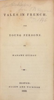 Tales in French for young persons; taken from Une famille, and Les enfans