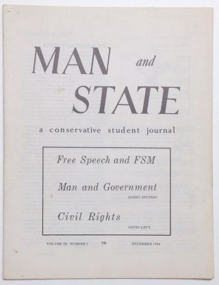 Man and State: a conservative student journal. Vol. III no. 1 (December 1964). David Levy