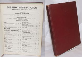 The New International; a monthly organ of revolutionary Marxism. Volume 11, January 1945 to December 1945
