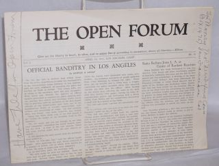 The open forum, vol 9, no. 16. April 16, 1932. Clinton J. Taft, ed