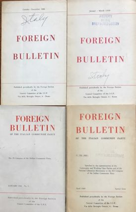 Foreign Bulletin of the Italian Communist Party [four issues]. Italian Communist Party