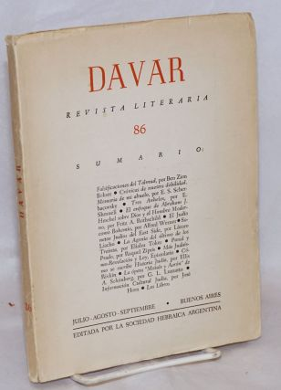 Davar: Revista Literaria. No. 86 (July-Sept. 1960