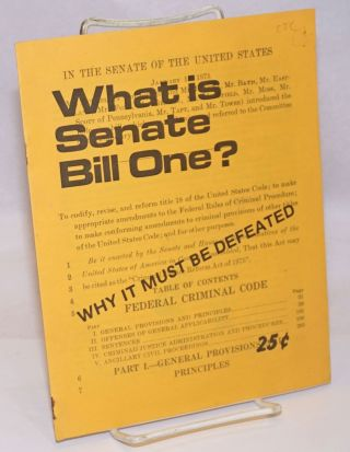 What is Senate Bill One? Why it must be defeated. San Francisco Committee to Stop Senate Bill One