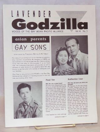 Lavender Godzilla: voices of the Gay Asian Pacific Alliance vol. 4, #1, Feb/March 1991: Asian Parents, Gay Sons