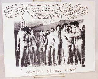 Community Softball League [handbill